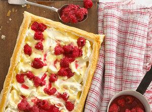 Raspberry & Creamy Custard Open Tart