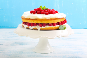 Raspberry lemon sponge cake