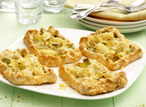 Potato, Cheese & Leek Shortcrust Tarts