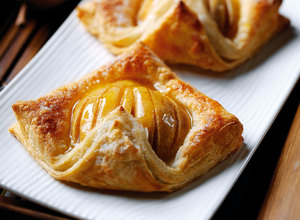 Pear and Almond Puffs