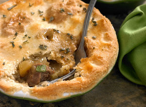 Pork, Apple & Creamy Mustard Pie