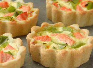 Salmon and Leek Tartlets