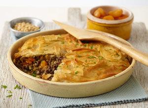 Spiced Moroccan Lamb Filo Pie