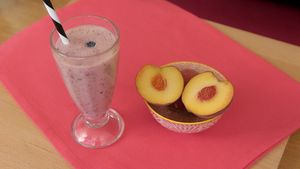 Peach and blueberry smoothie