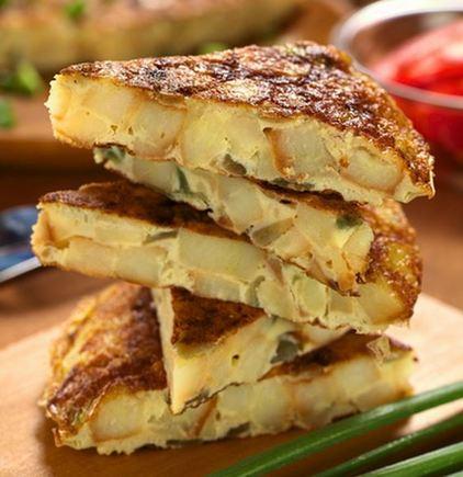 Real Spanish tortilla wedges