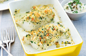 Lemon and herb crusted fish recipe