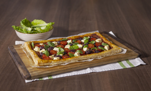 Sundried tomato and feta tart