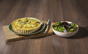 Smoked Trout and Roasted Beetroot Quiche