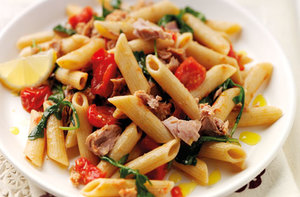 Wholewheat pasta with tuna recipe