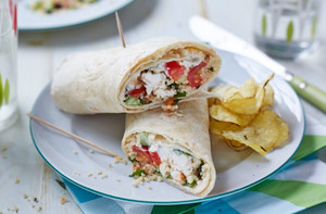 Leftover roast chicken and couscous wraps