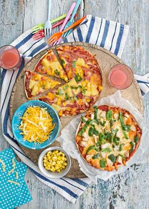 Tortilla pizza margarita