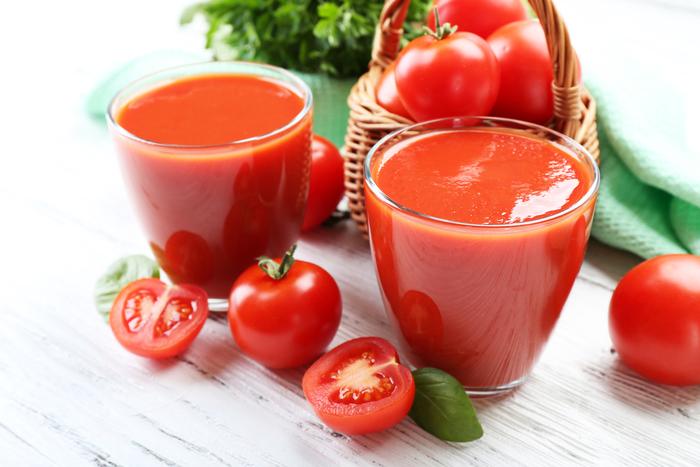 Tomato and basil juice