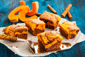 Pumpkin swirl chocolate brownies