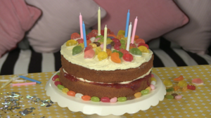 Sweet shop birthday cake