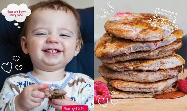 Buckwheat raspberry pancakes