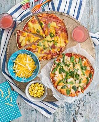 Tortilla pizza margarita