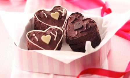 Valentine's mini cakes