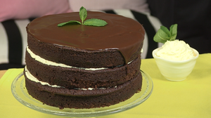 Dark chocolate and mint cake