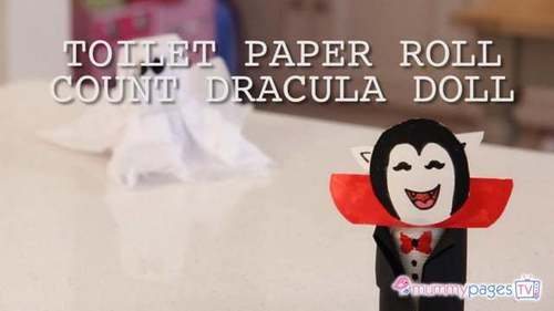 Toilet paper roll count Dracula doll