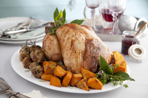 Christmas turkey with cranberry, lime and maple glaze by Catherine Fulvio