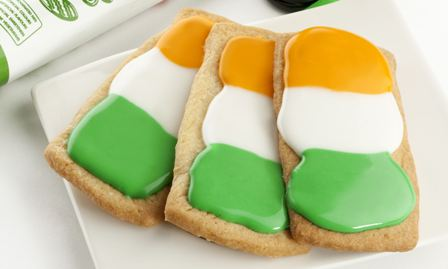 Irish flag biscuits