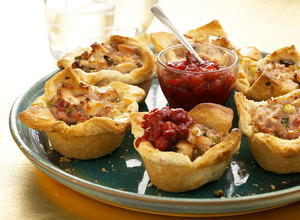 Turkey, Bacon and Cranberry Shortcrust Pie