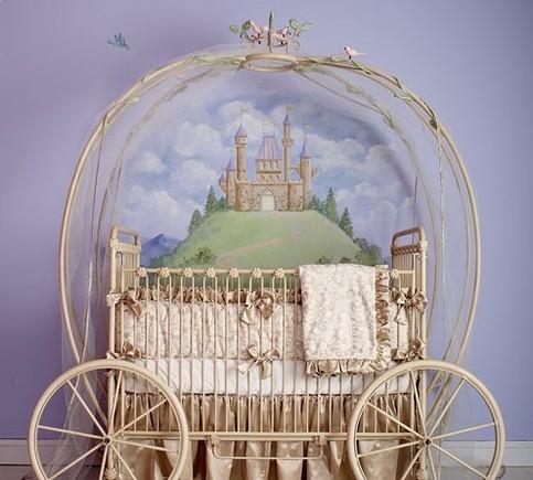 Princess Coach Iron Crib