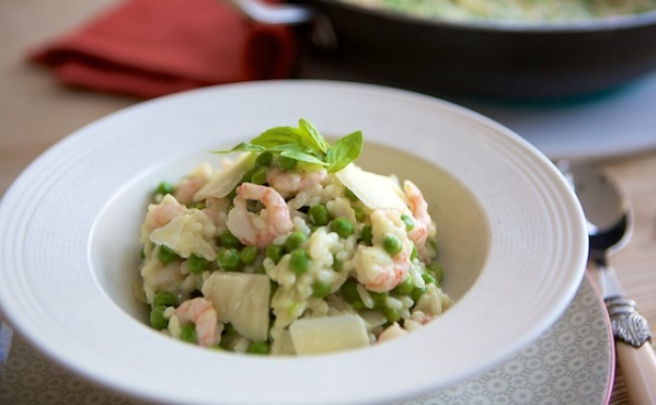 Pea and Prawn Risotto