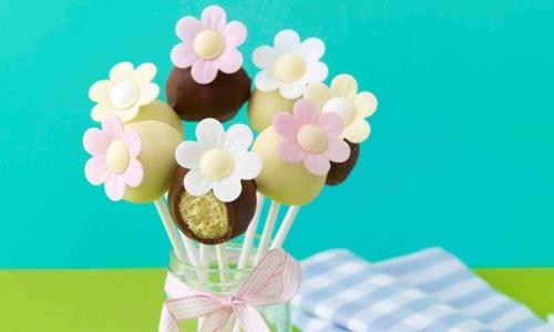 Easter petal cake pops