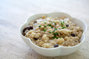 Oven baked mushroom risotto