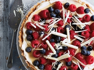 Berry and White Choc Tart