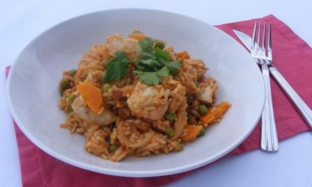 Arroz con pollo (Mexican chicken with rice)