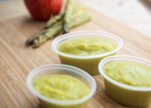 Asparagus and Apple Purée
