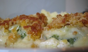 Easy chicken and broccoli bake