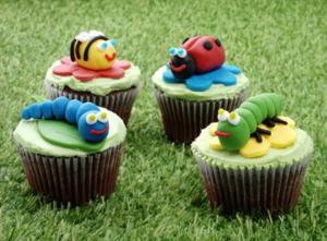 Garden bug cupcakes