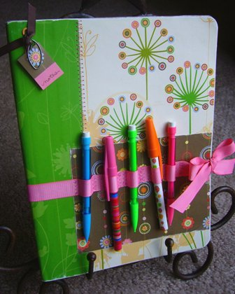 Hand decorated diary