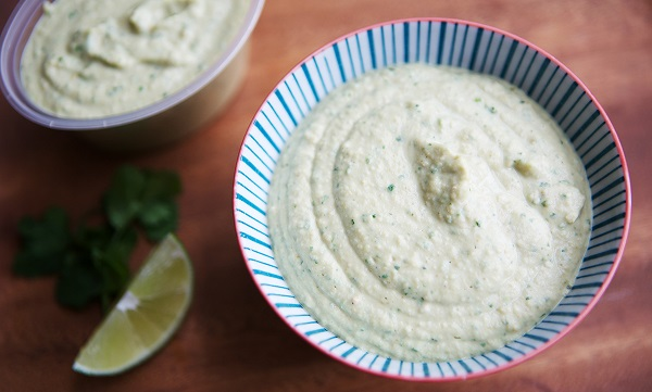 Hummus with Coriander and Lime