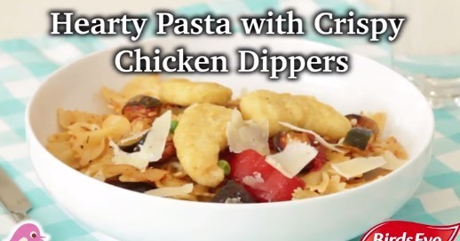 Hearty Pasta with Crispy Chicken Dippers