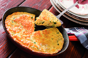 Courgette and thyme frittata