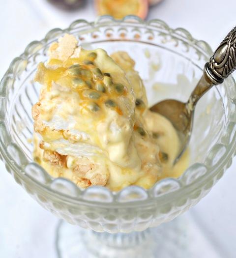 Passion fruit and lemon meringue pie