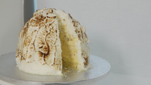 Cookie dough baked Alaska