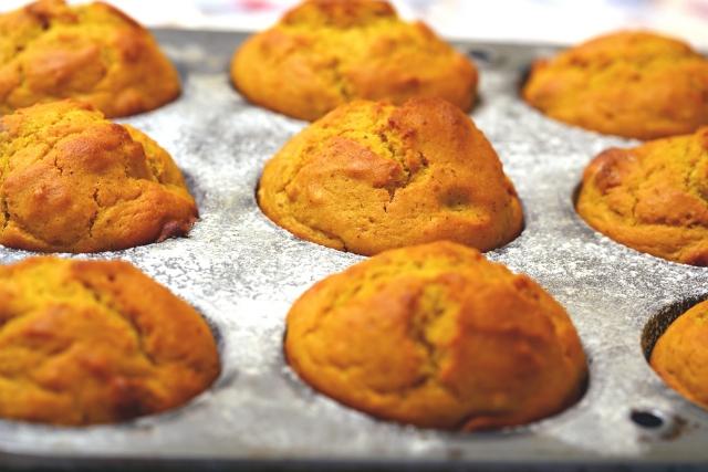 Halloween pumpkin & apple muffin