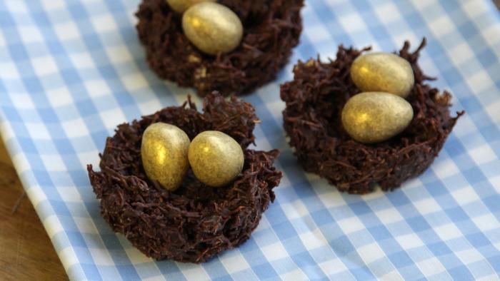 Chocolate birds nests