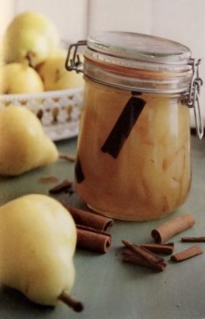 Cinnamon pear preserve