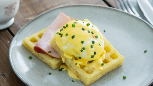 Gluten-free Waffle Benedict