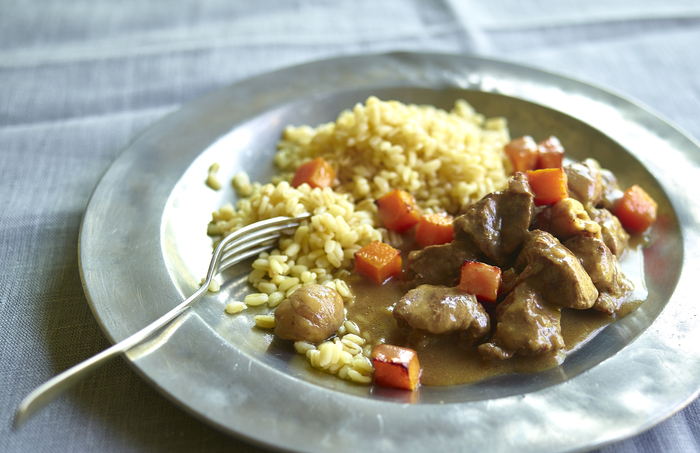Lamb casserole with butternut squash