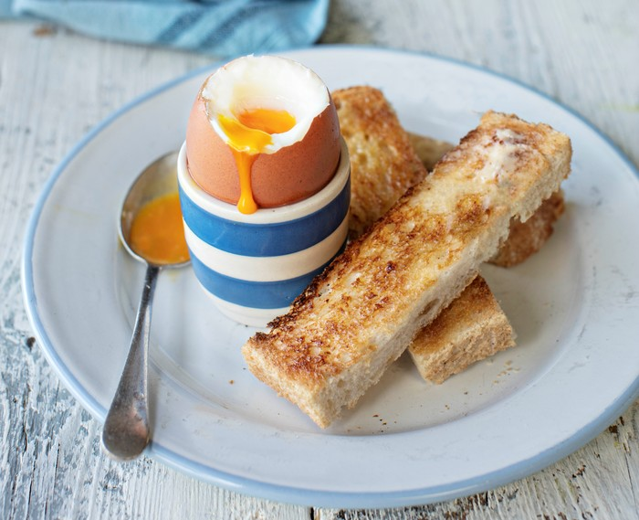 Perfect soft-boiled eggs