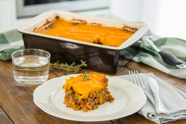 Lentil shepherd's pie with butternut squash