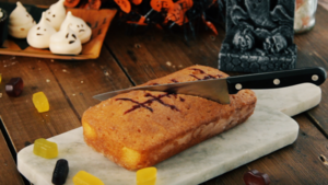 Bloody orange drizzle cake