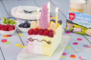 Unicorn ice cream birthday cake